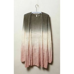 Anthropologie Moth Tonal Tides Ombre Knit Cardigan